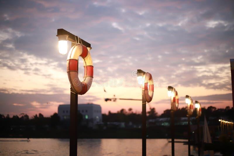 Guma pławika pierścionek w wodnym centrum sportowym obraz royalty free