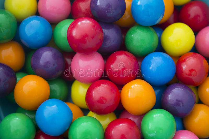 Gumballs background stock photography
