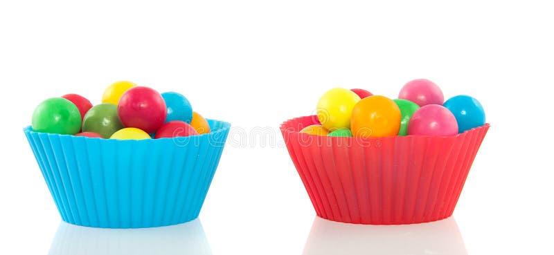 Gumballs doces coloridos fotografia de stock royalty free