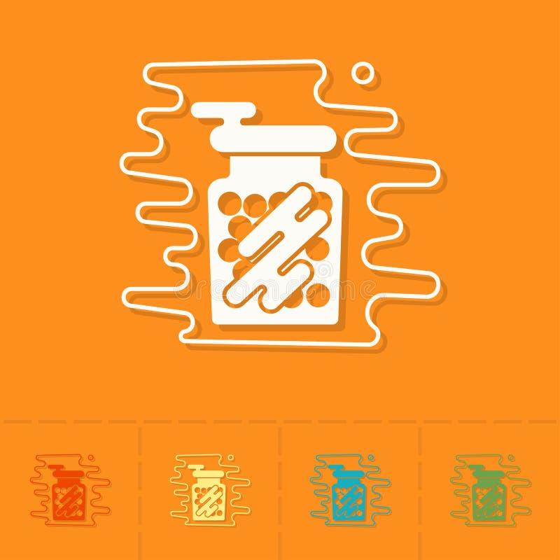 Gumballs in a Jar. vector illustration