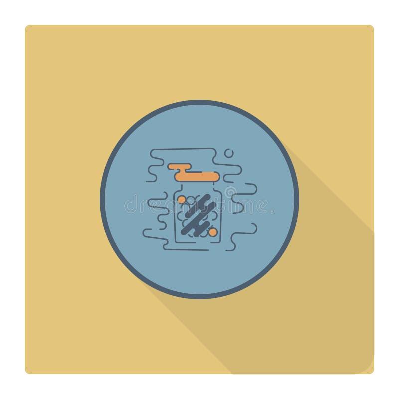 Gumballs in a Jar. stock illustration