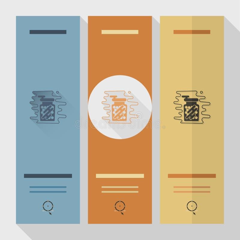 Gumballs in a Jar. royalty free illustration