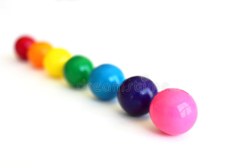 Gumballs in a Row stock photo