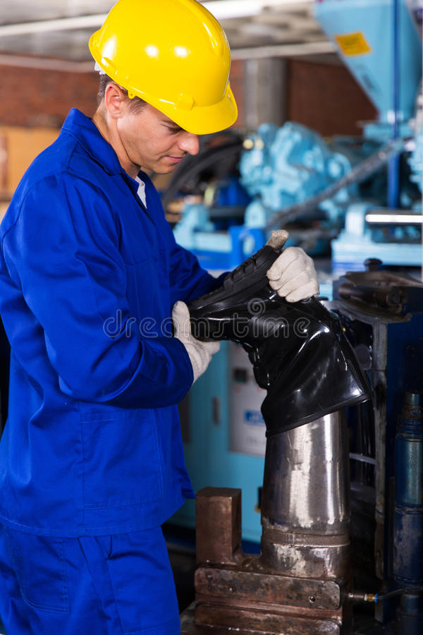 gumboot för fabriksarbetare royaltyfria foton