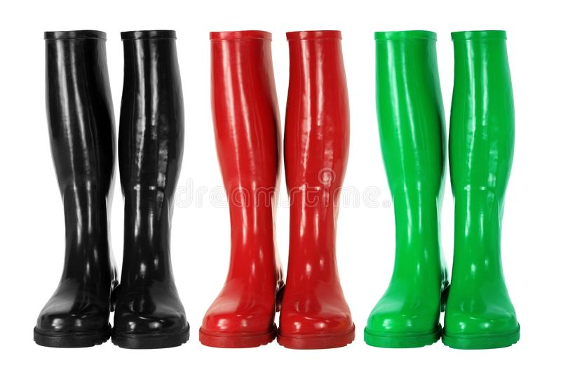 Gumboots rossi fotografia stock libera da diritti