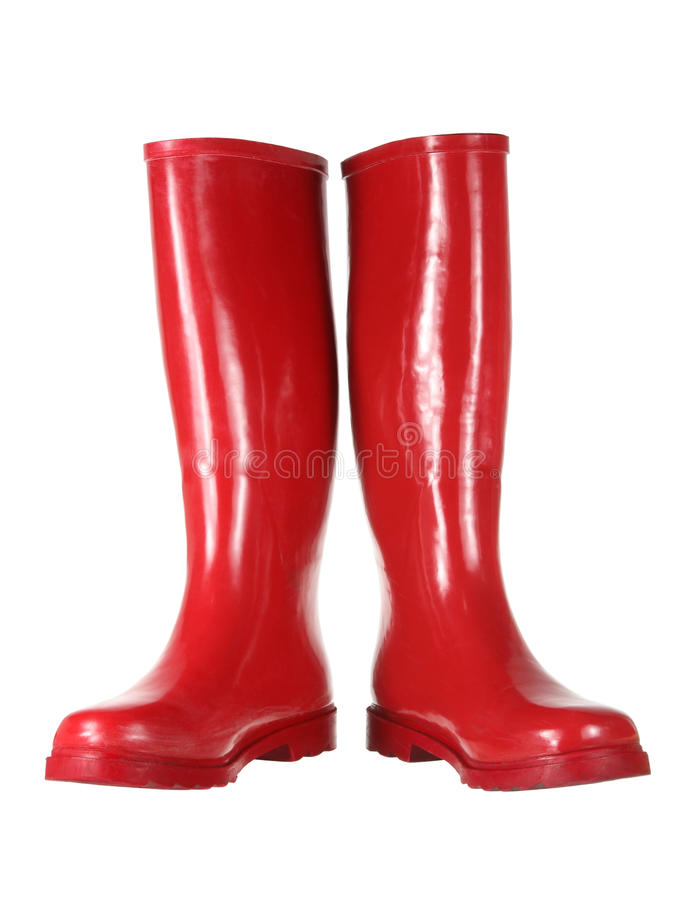 Gumboots rouges photo stock
