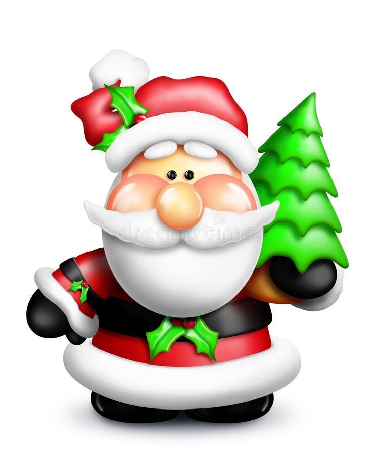 gumdrop Santa ilustracji