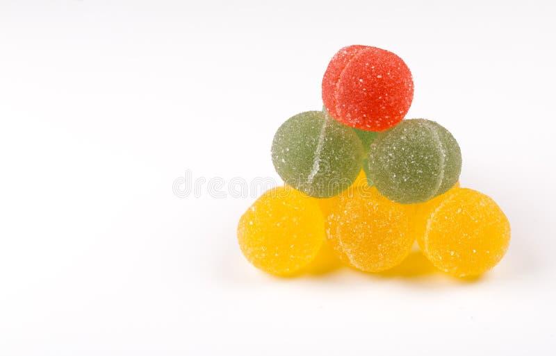 Gumdrops, Kolorowe Sugarcoated Marmoladowe piłki Tradycyjny Skandynawski Bożenarodzeniowy cukierek fotografia stock