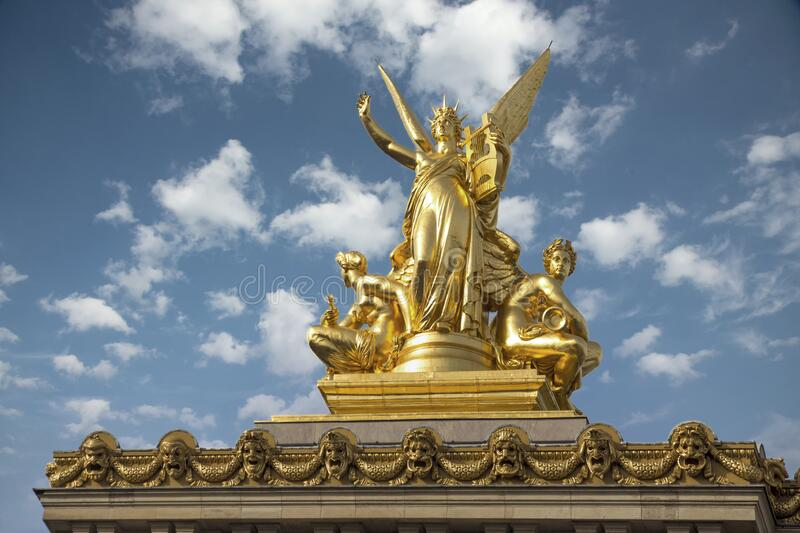 Gumery Poetry - Opera Garnier roof royalty free stock photos