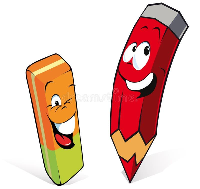 gumka ołówek ilustracja wektor