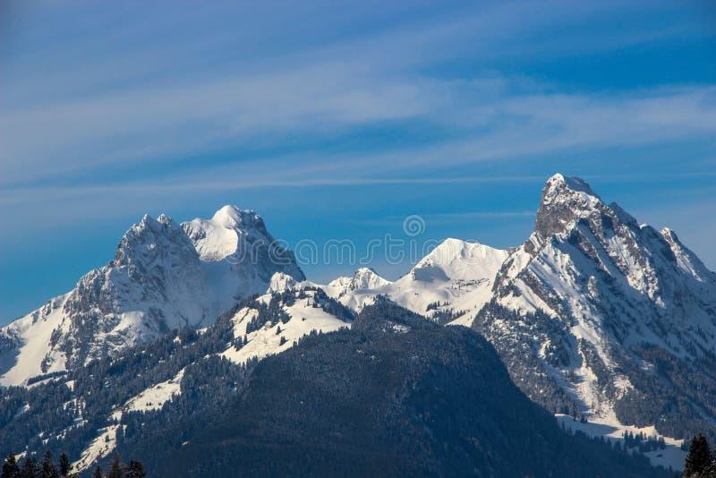 Gummfluh, Rubli e Videmanette, Svizzera fotografie stock libere da diritti