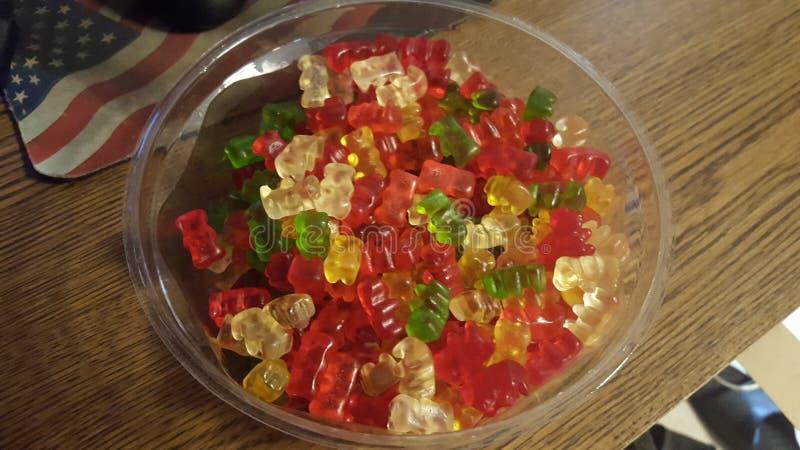 Gummi bears and 'merica! royalty free stock photography