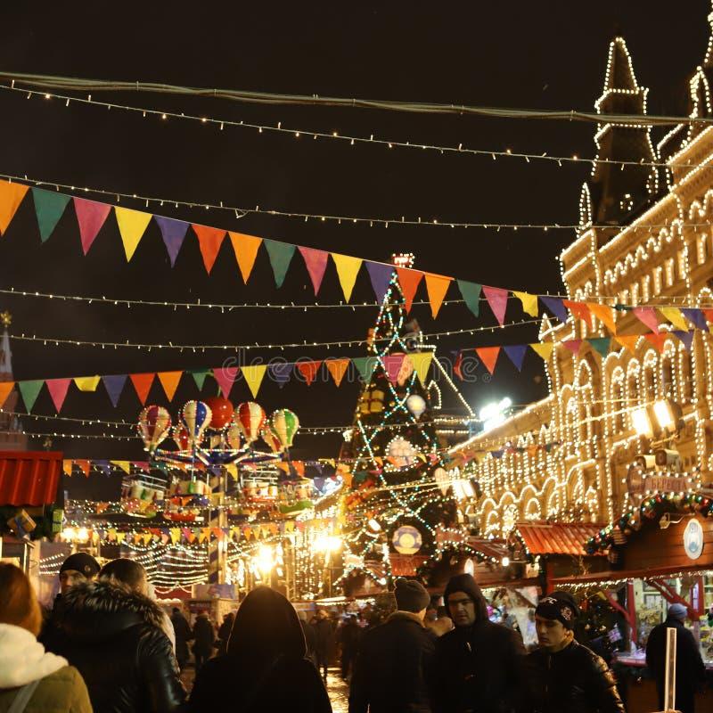 Gummi för nytt år för Moskva arkivfoton