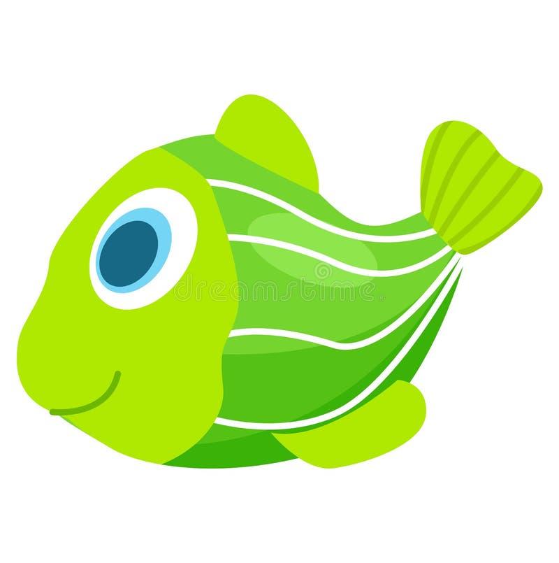 Gummi oder grüne Plastikfische, damit Kinder Bad nehmen lizenzfreie abbildung