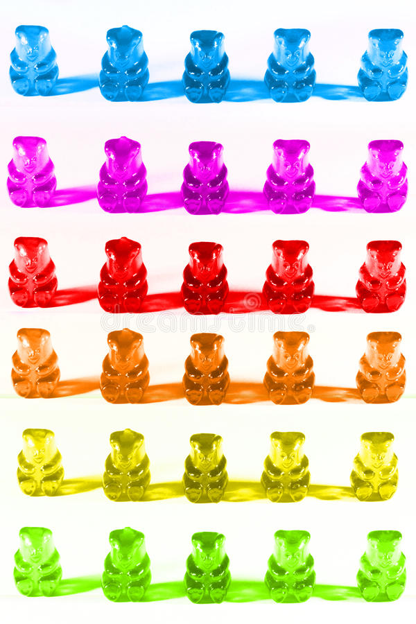 Gummiartige Bären lizenzfreie stockfotografie