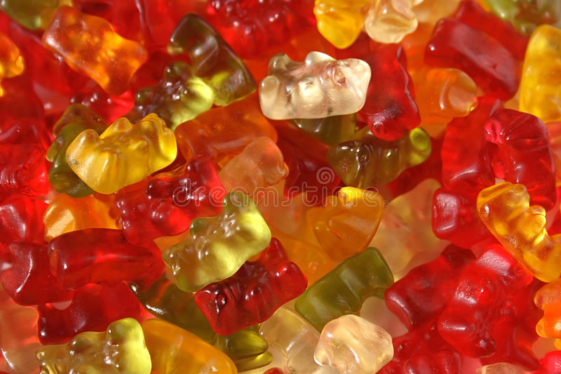 Gummiartige Bären stockfotografie