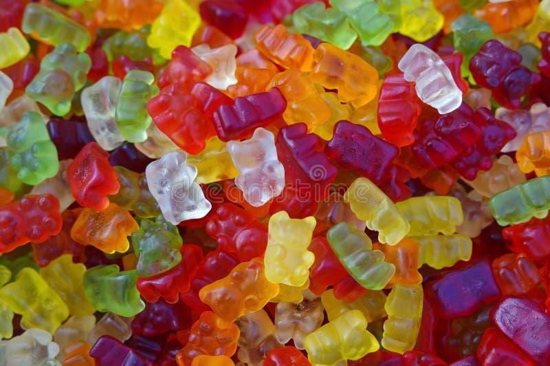 Gummiartige Bären - ROHES Format stockfotos