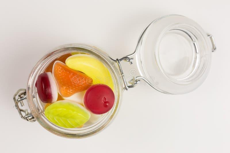Gummiartige Süßigkeit des Joghurts stockbilder