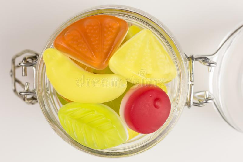 Gummiartige Süßigkeit des Joghurts lizenzfreies stockfoto