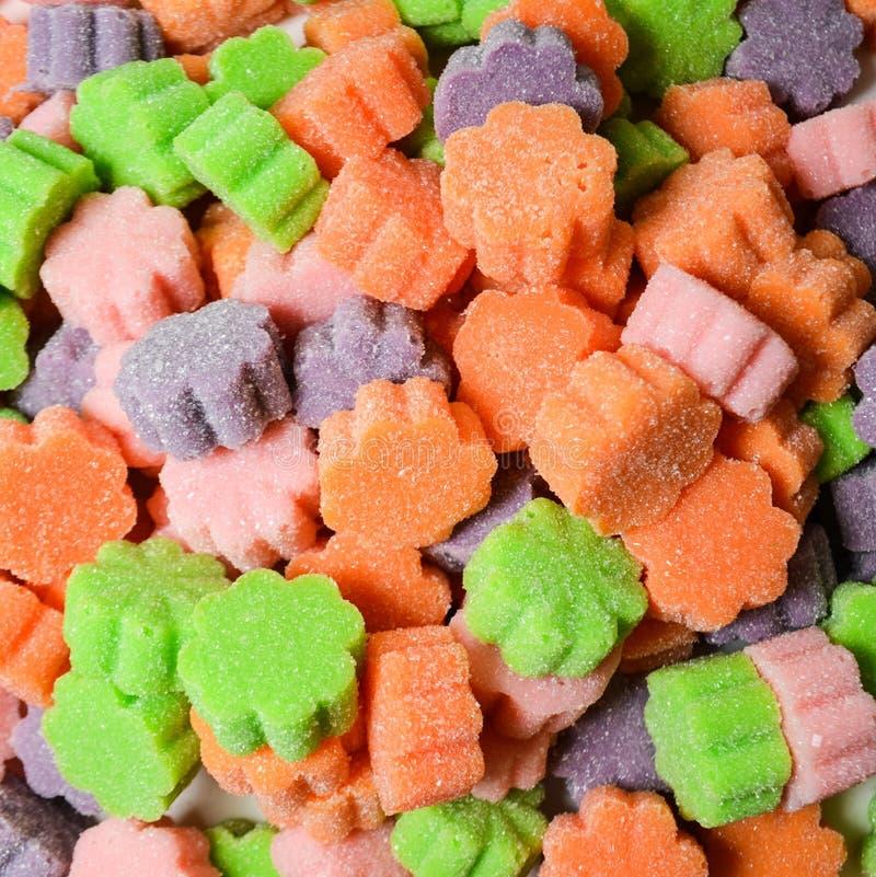 Gummies coloré dragéifié fait maison photo libre de droits