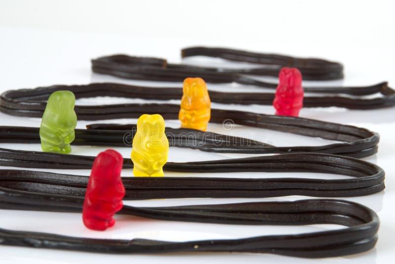 Gummies en laberinto fotografía de archivo