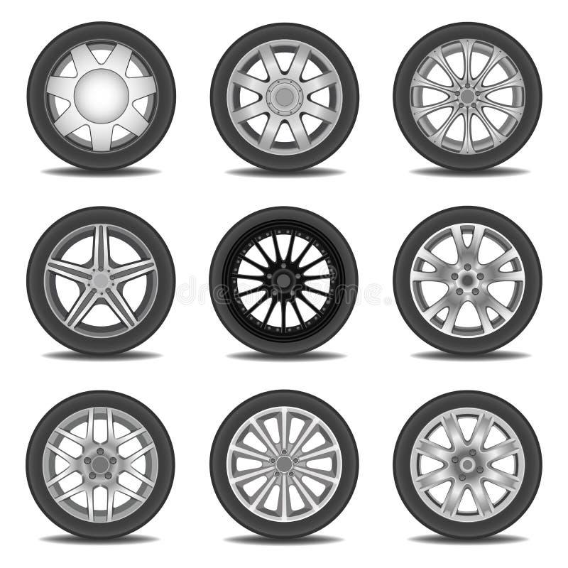 gummihjul stock illustrationer