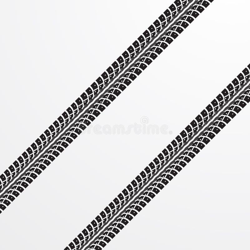 Gummihjulet spårar vektorn stock illustrationer