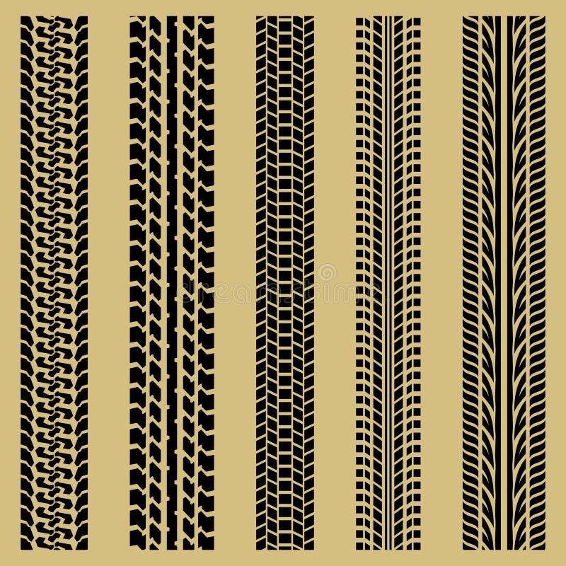 gummihjulspår royaltyfri illustrationer