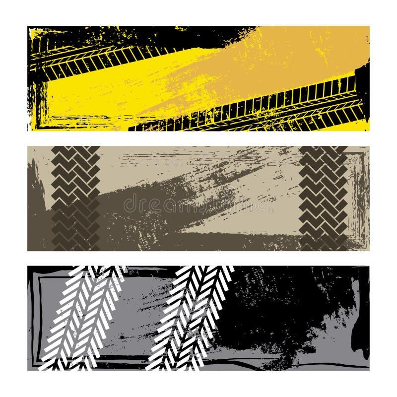 Gummihjulspår stock illustrationer