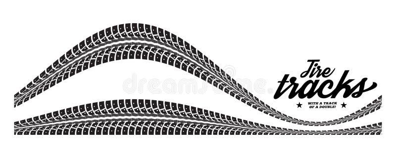 Gummihjulspår vektor illustrationer