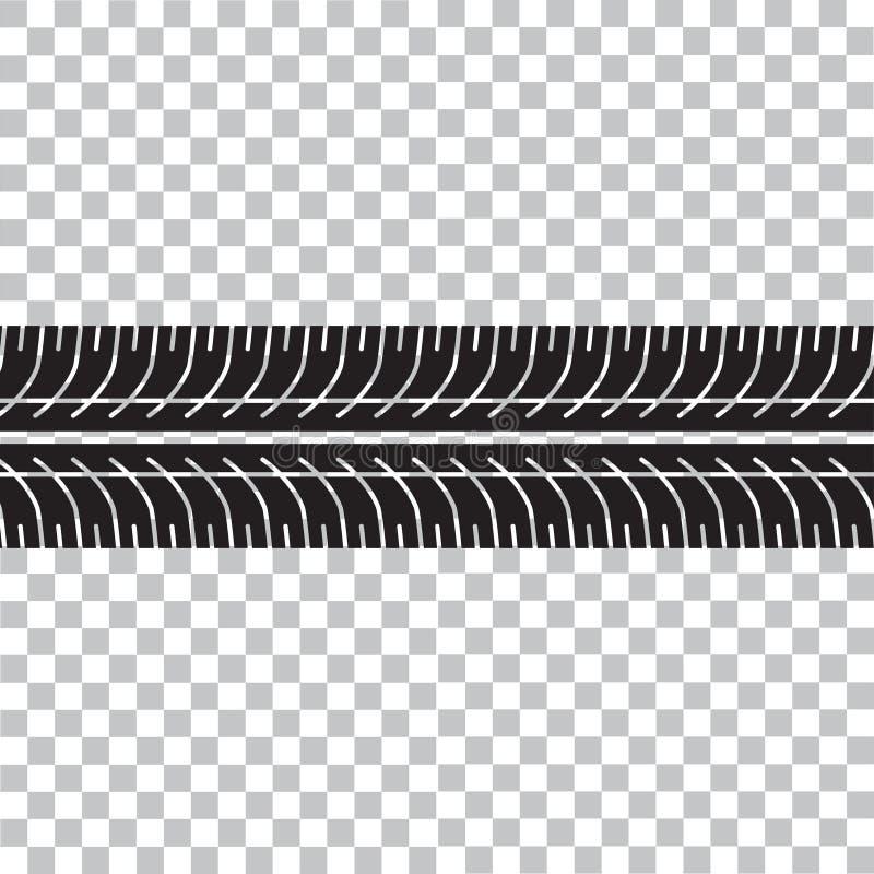 Gummihjulspår på biltransportbakgrund royaltyfri illustrationer