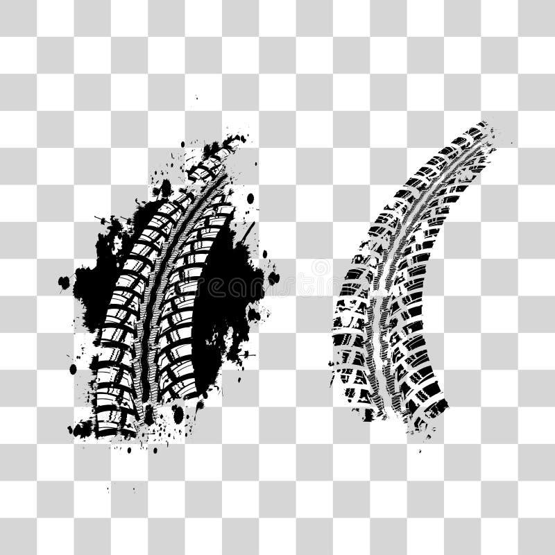 Gummihjulspårbakgrund vektor illustrationer
