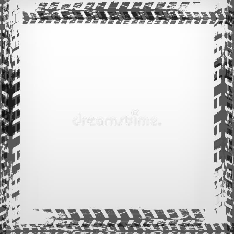 Gummihjulspårram royaltyfri illustrationer