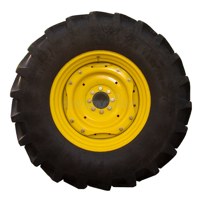 gummihjultraktor royaltyfri fotografi