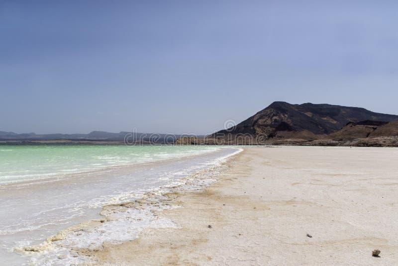 Gummilack Assal, Dschibuti stockbilder