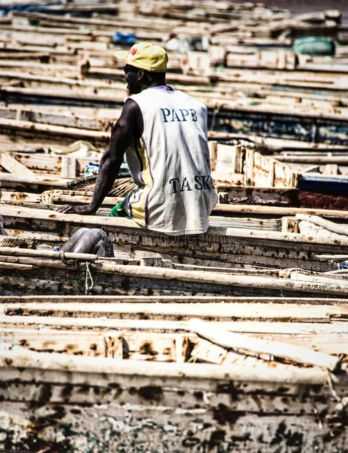 Gummilack Rose, Senegal lizenzfreies stockbild