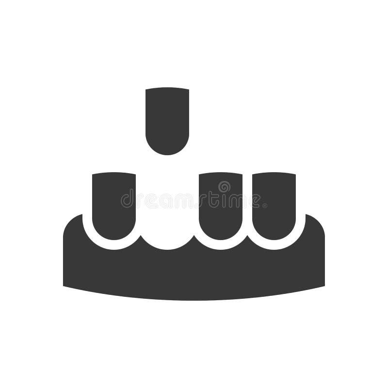 Gummin med tänder och den saknade tanden, tand- släkt fast symbol royaltyfri illustrationer