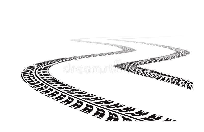 Gummireifenspuren vektor abbildung