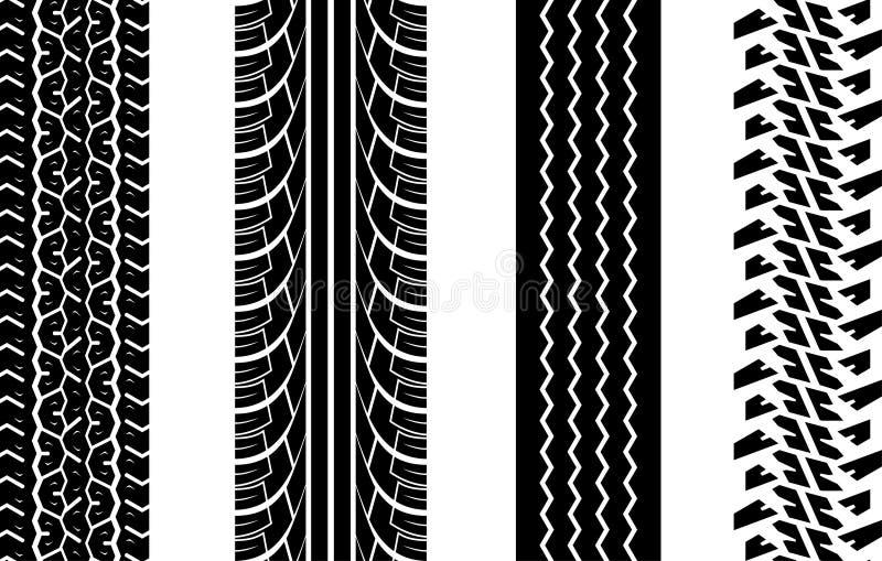 Gummireifenspuren stock abbildung
