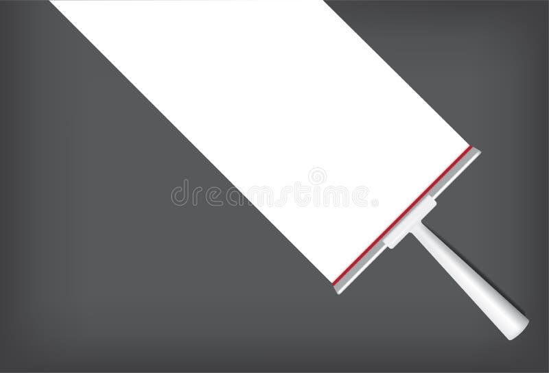 Gummiwalzen-Spott herauf realistischen Reinigungsgegenstand Für Haushalts-Wischer-Sachen-Hintergrund lizenzfreie abbildung