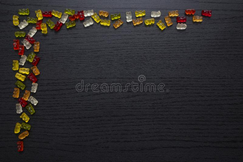 Gummy candy greeting card stock photography