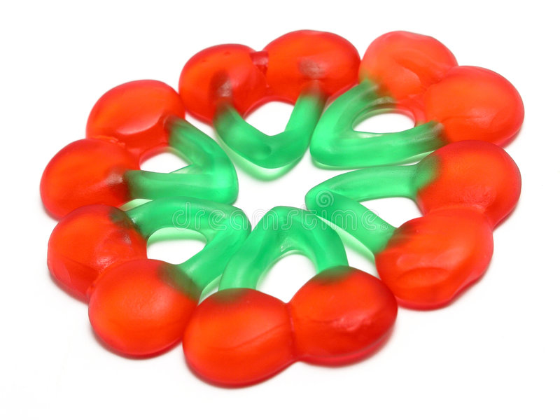 Gummy Cherries Royalty Free Stock Image