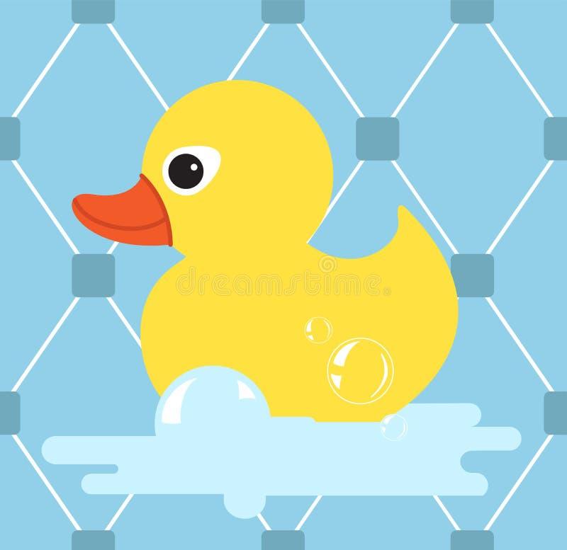 Gumowa kaczki ikona Żółta kaczka również zwrócić corel ilustracji wektora ilustracja wektor