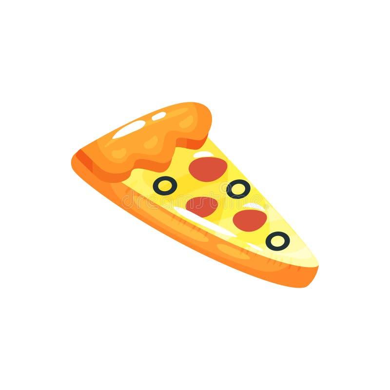 Gumowa lotnicza materac w formie pizza plasterek dla pływać w basenie Nadmuchiwana spławowa zabawka Kreskówki plażowy akcesorium  ilustracji