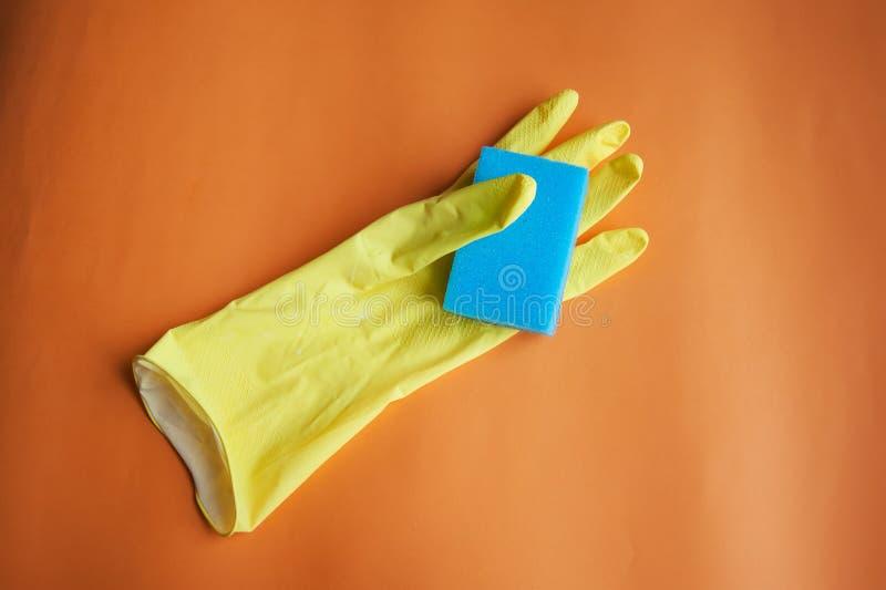 Gumowa rękawiczka dla czyścić obrazy stock