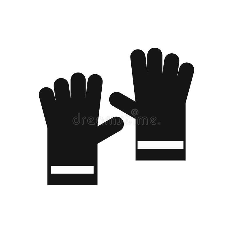 Gumowa rękawiczki ikona, prosty styl ilustracja wektor