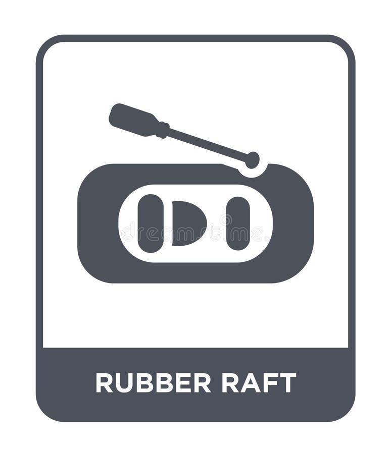 gumowa tratwy ikona w modnym projekta stylu gumowa tratwy ikona odizolowywająca na białym tle gumowej tratwy wektorowa ikona pros ilustracji
