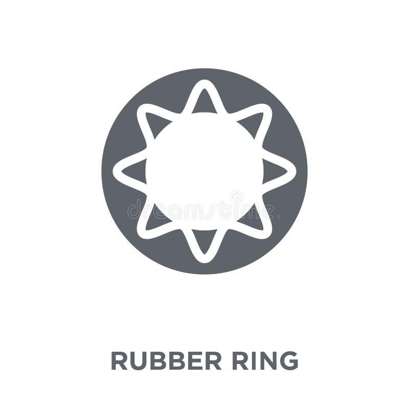 Gumowego pierścionku ikona od kolekcji royalty ilustracja