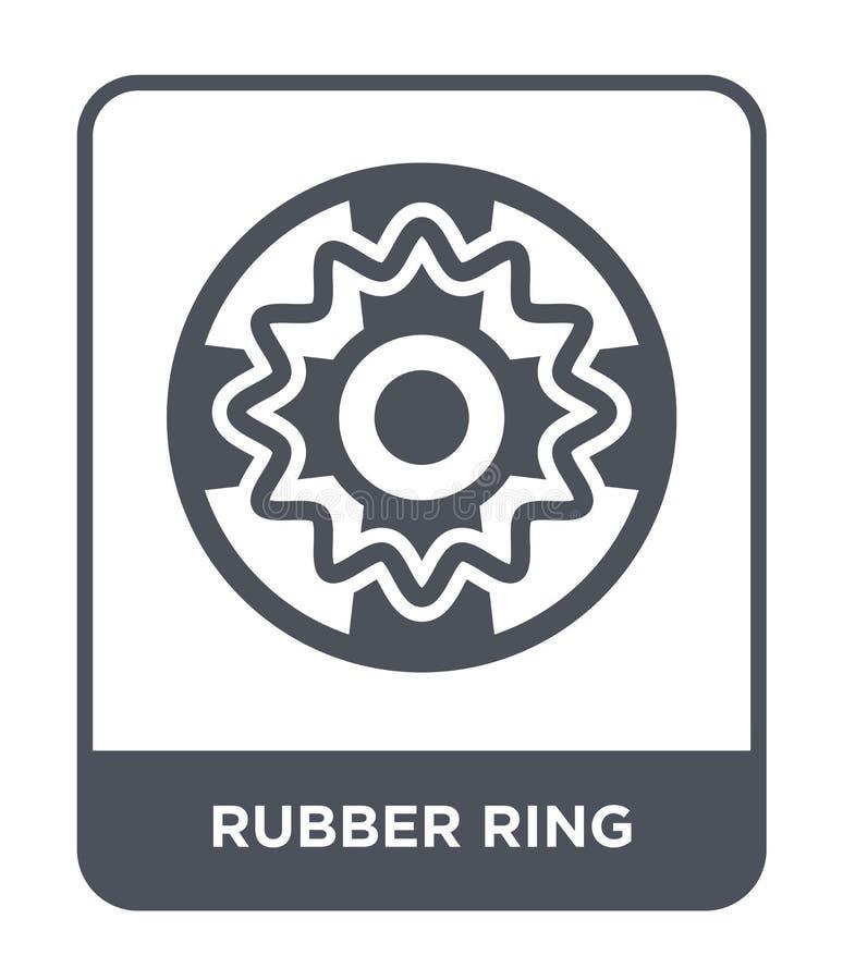gumowego pierścionku ikona w modnym projekta stylu gumowego pierścionku ikona odizolowywająca na białym tle gumowego pierścionku  ilustracji
