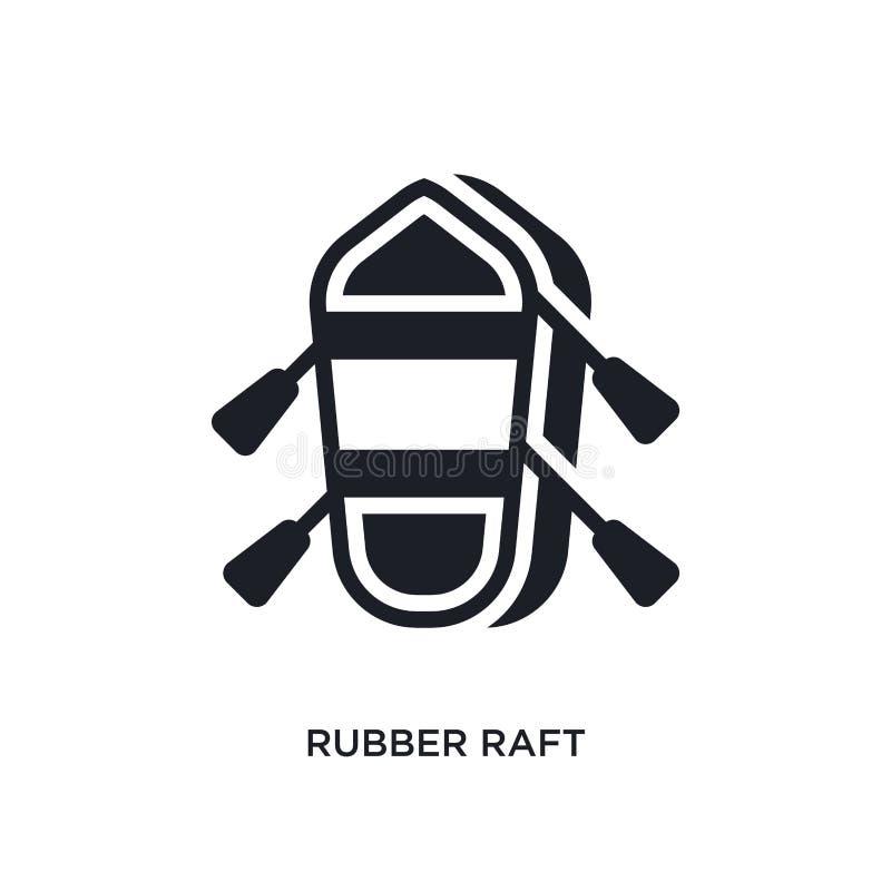 gumowej tratwy odosobniona ikona prosta element ilustracja od nautycznych pojęcie ikon gumowej tratwy logo znaka symbolu editable royalty ilustracja